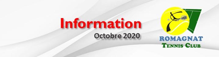 Fermeture RTC – Octobre 2020